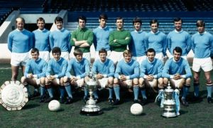 Manchester City team photo taken in 1969
